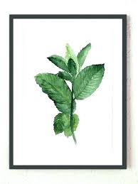 kitchen art print herb kitchen decor mint watercolor painting herb kitchen art botanical wall decor kitchen art print kitchen art prints uk