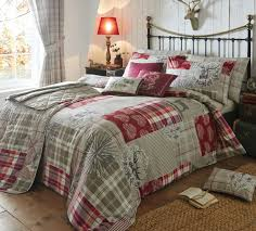 tartan duvet matalan highland stag duvet cover patchwork tartan check deer red tartan bedding uk bedding