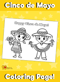 See what cinco de mayo (may 5th) celebrates and why it is such a special holiday!❤. Cinco De Mayo Coloring Page Kids With Maracas 10 Minutes Of Quality Time