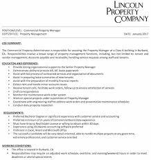 commercial property manager burbank job bb real estate property manager job description
