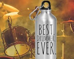 best drummer ever personalized water bottle drummer gifts for men gift for drummer customized water bottle ian gifts drummer gifts