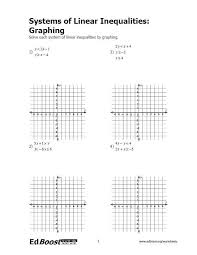 worksheets graphing linear inequalities in two variables worksheet solving systems of linear equations by graphing worksheet
