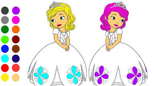 Sweet Princess Coloring Games L Coloring Book Learn Colors For
