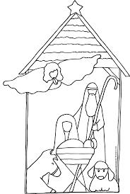Nativity Coloring Sheets Baby Jesus Coloring