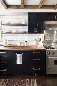 Exellent Kitchens With Black And White Cabinets Inspired Kitchen Designs On Creativity Design