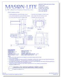 browse 6 cad drawings by mason lite masonry fireplace industries llc