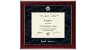 temple university presidential masterpiece diploma frame in jefferson item 272417 from temple university book