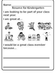 Pay For A Resumes Kid Friendly Resumes Pre K To Kinder