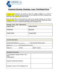 Free 5 Breakage Report Forms In Pdf Doc