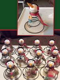 Bed Springs Snowmans Made From Old Bed Springs Vintage Buttons Jay