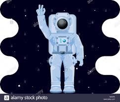 Astronaut Character Design Astronaut Character In Space Scene Vector Illustration