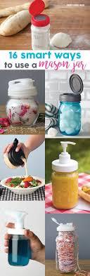 16 smart ways to use mason jars! Mason jar lids, mason jar pumps,