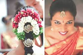 Even with a sari or a half sari this style is going to look chic and traditional at the same time. Perfect South Indian Bridal Hairstyles For Receptions
