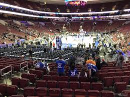 Wells Fargo Center Section 108 Philadelphia 76ers