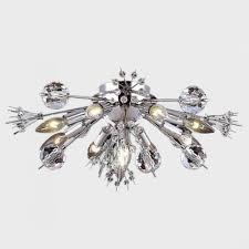 starburst collection 10 light chrome finish crystal sputnik flush mount ceiling light 20 d x