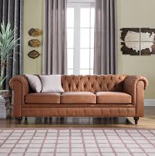 companies wellington leather furniture promote american. Classic Scroll Arm Real Leather Chesterfield Sofa (Light Brown) Companies Wellington Furniture Promote American E