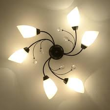 4 bulb ceiling light iron surface mounted ceiling lighting style 4 6 8 heads ceiling lights 4 bulb ceiling light