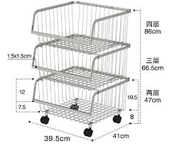 china stackable rolling steel rack with wheels metal stainless steel kitchen storage shelves supplier