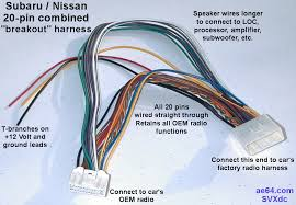 20 pin combined wiring harness for subaru impreza forester click to see larger image