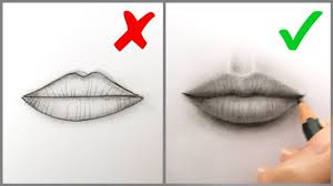 I work with fine art materials and i protect your drawing with conté a parís finish spray so that it sticks to. Don Ts Do S How To Draw Realistic Lips Mouth