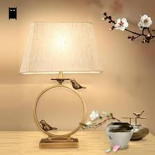 copper black bird brass fabric shade table lamp fixture luxury nordic desk light night stand bedrooom night table lamps26