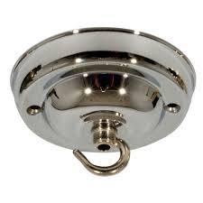 ceiling rose hook plate for light fitting chandelier 108mm dia chrome