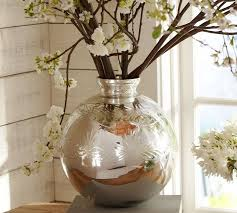 vases glass vase round bubble bowl vase big round silver vase polished silver vase with