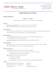 Student Nurse Resume Sample Resumes For Nurses Example Student Nurse Resume Free Sample 46