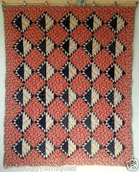 506 best Antique quilts images on Pinterest | Antique quilts ... & Vintage 30's PATCHWORK Quilt RARE Grandmothers Flower Garden Cheater Cloth  Back Adamdwight.com