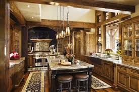 Decorating Country Kitchen Double Door Cabinetrustic Country Kitchen Decor Round Stools For
