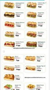 Subway Points In 2019 Slimming World Diet Slimming World