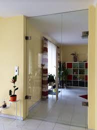 frameless glass double doors clear glass