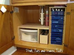 DIY under cabinet storage system