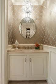 aphrochic 16 glamorous bathrooms with wallpaper style me pretty bathroomglamorous creative small home office
