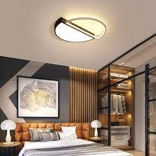 acrylic semicircle flush mount light