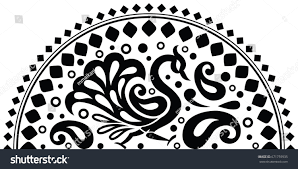 Indian Peacock Design Indian Traditional Peacock Design Stock Vector Royalty Free