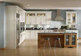 White Gloss Shenandoah Cabinets With Wood Dining Tables Home Design