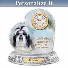 shih tzu personalized clock by linda picken