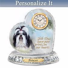 shih tzu personalized clock by linda picken