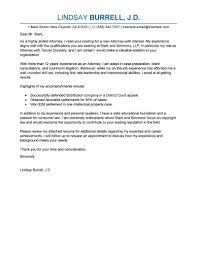 Leading Professional Attorney Cover Letter Examples