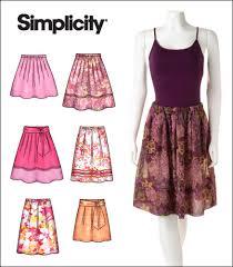 Pleated Skirt Pattern Adorable Simplicity 48 Misses Pullon Pleated Skirts Tie Belt