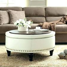 round leather cocktail ottoman cube footstool coffee table with shelf black t round leather cocktail ottoman la z boy table
