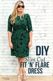 Fit And Flare Dress Pattern Adorable Tutorial Slim Fit And Flare Dress Sewing
