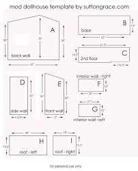 free 1 12 scale dolls house plans best of diy dollhouse furniture plans ana white build
