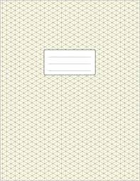 Isometric Grid Notebook 3d Graph Paper Large Size 8 5x11