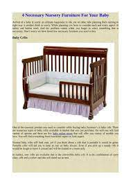 4 necessary nursery furniture for your baby