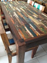 recycled wood furniture. DINING TABLE From RECYCLED BOAT Recycled Wood Furniture Salvaged Projects Recycling For
