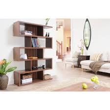 Furniture of America Karrise Walnut Display Shelf/ Bookcase/ Room Divider -  Free Shipping Today - Overstock.com - 13269955