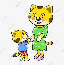 Hình ảnh Phim Hoạt Hình Ngày Của Mẹ Mẹ Và Con Vật Mẹ Và Con Mèo Con, Phim  Hoạt Hình động Vật, Phim Hoạt Hình Ngày Của Mẹ, Mẹ Và Con Mèo
