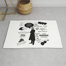 Sherlock Holmes Quotes Rug By Pmdooling